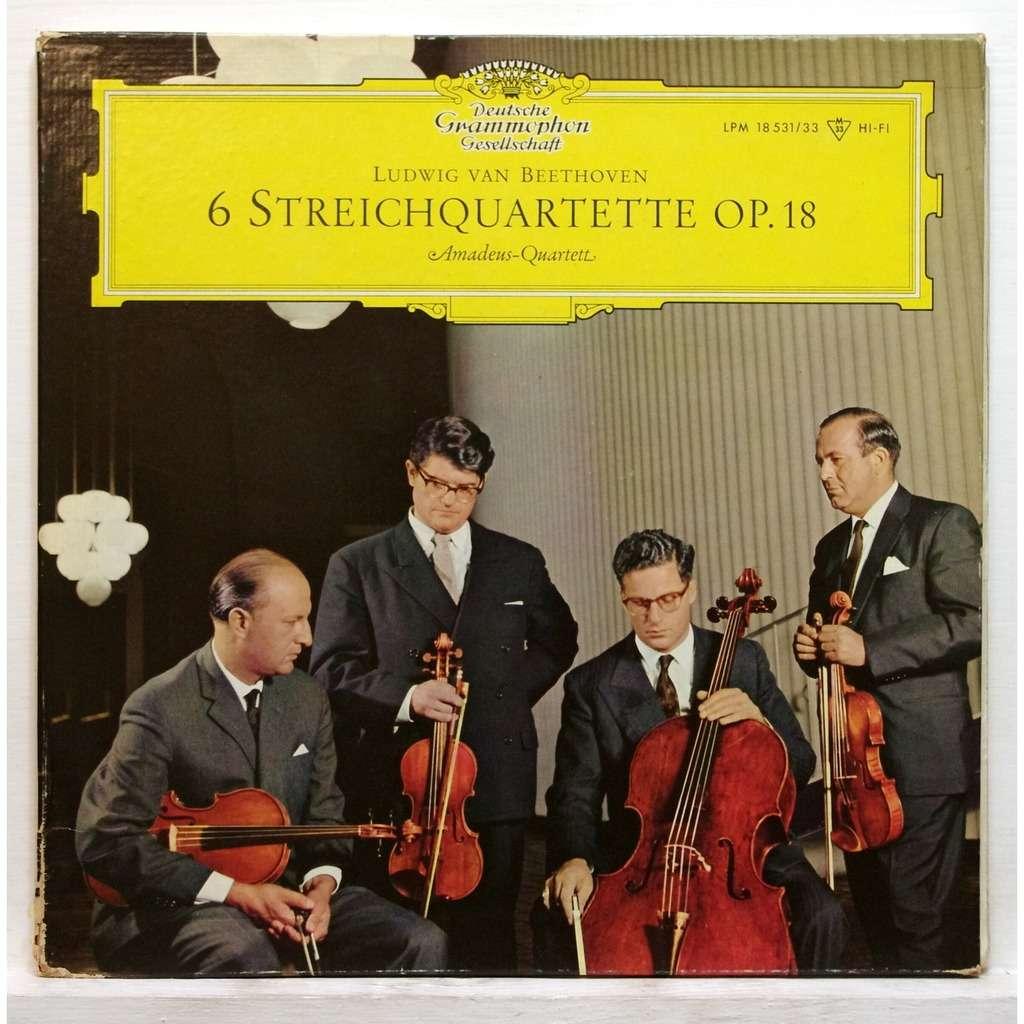 Beethoven 6 String Quartets Op 18 By Amadeus Quartet Lp