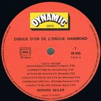 SEILER GERARD disque d'or de l'orgue hammond : l'été indien + 11
