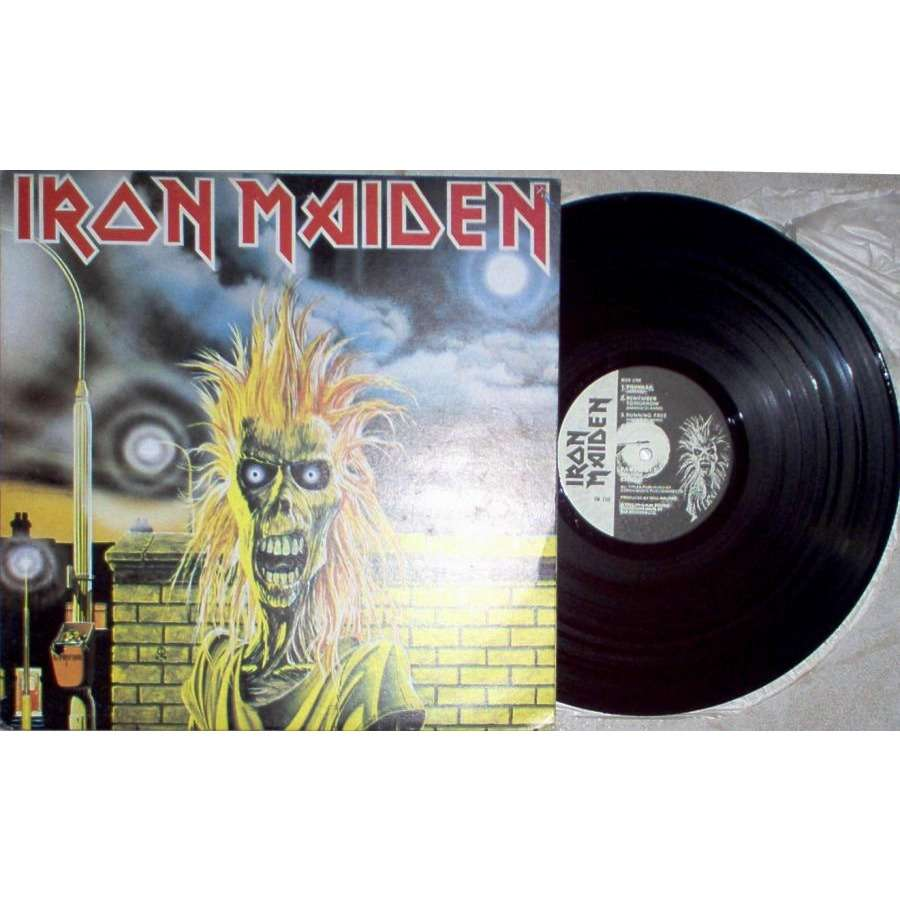 Iron Maiden Iron Maiden (South Korea 80s 'Fame' 8-trk LP unique blu back ps)