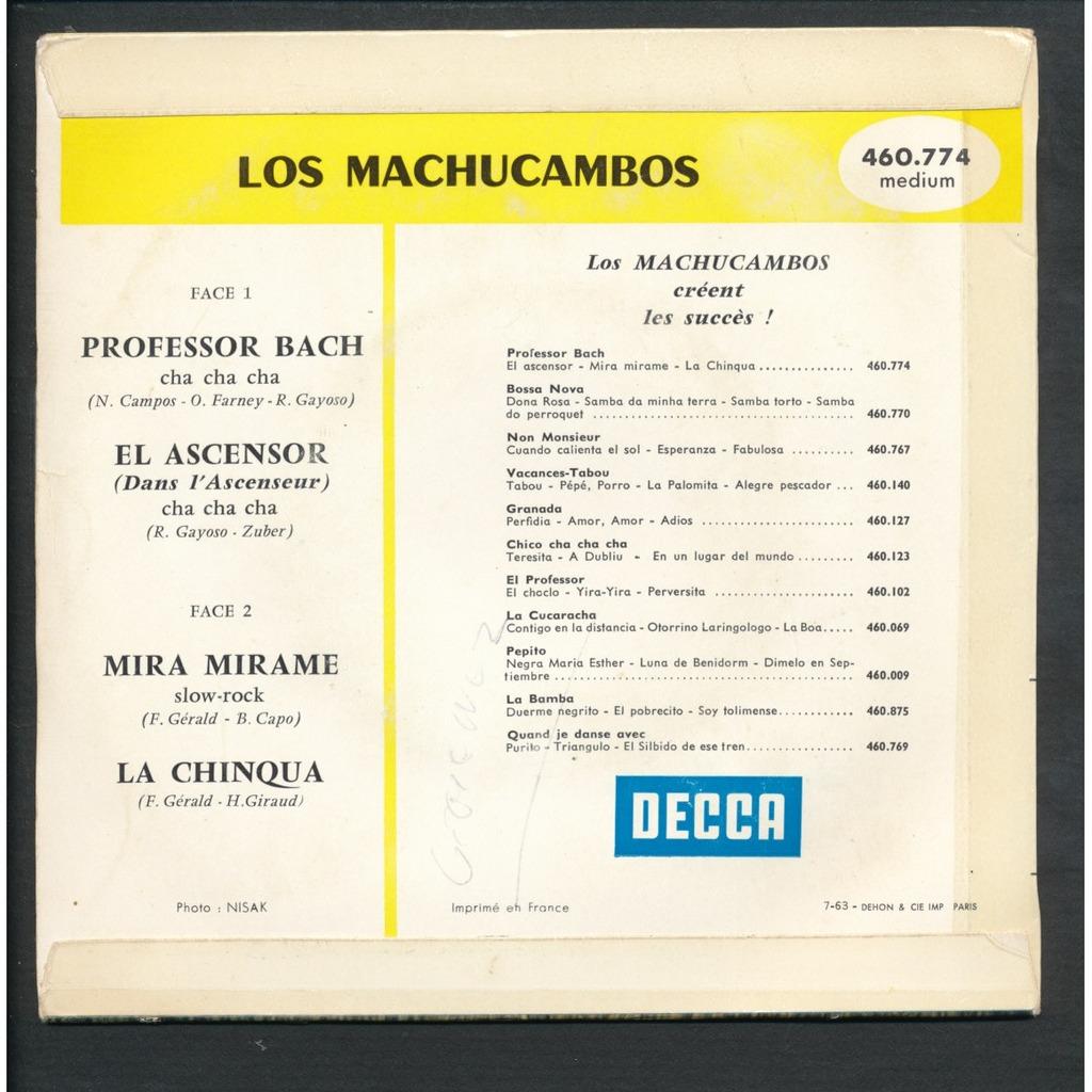 LOS MACHUCAMBOS professor bach - el ascensor - mira mirame - la chinqua