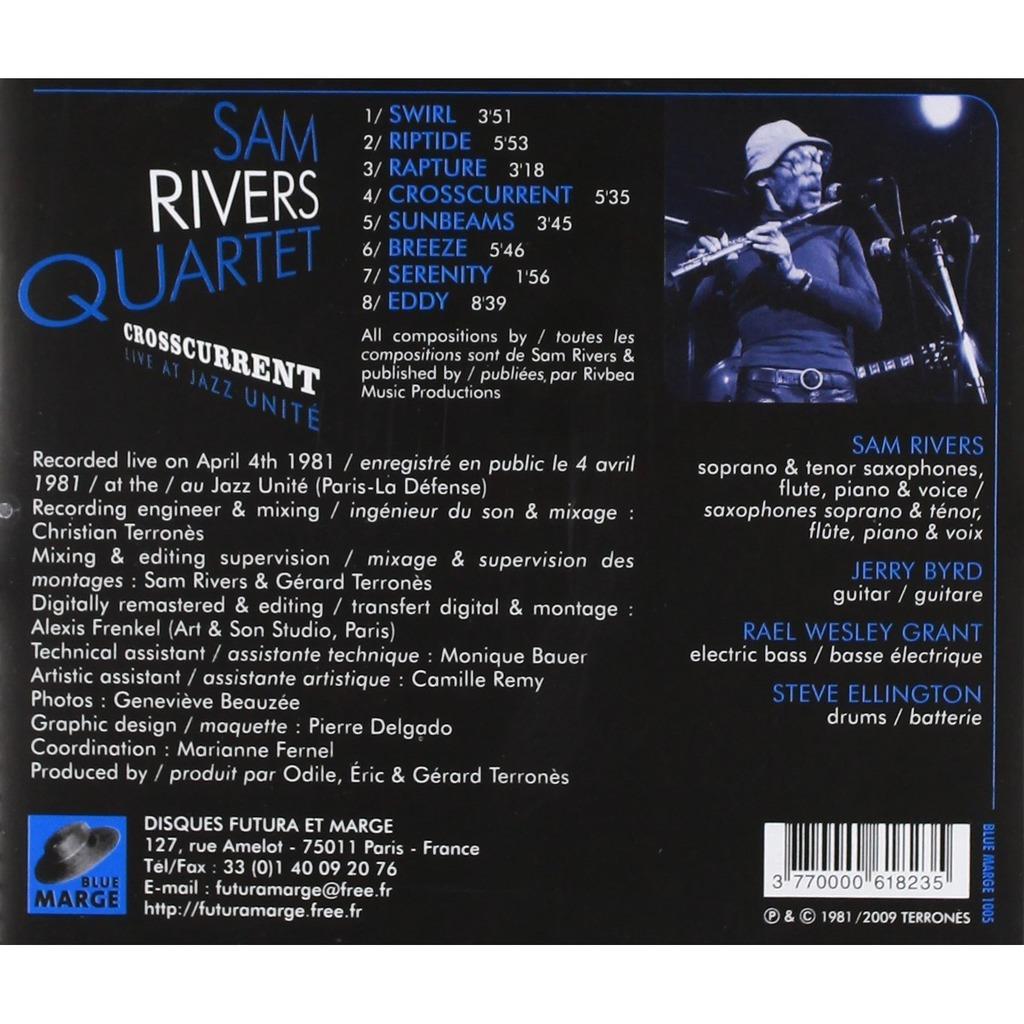 sam rivers quartet Crosscurrent live at jazz unite