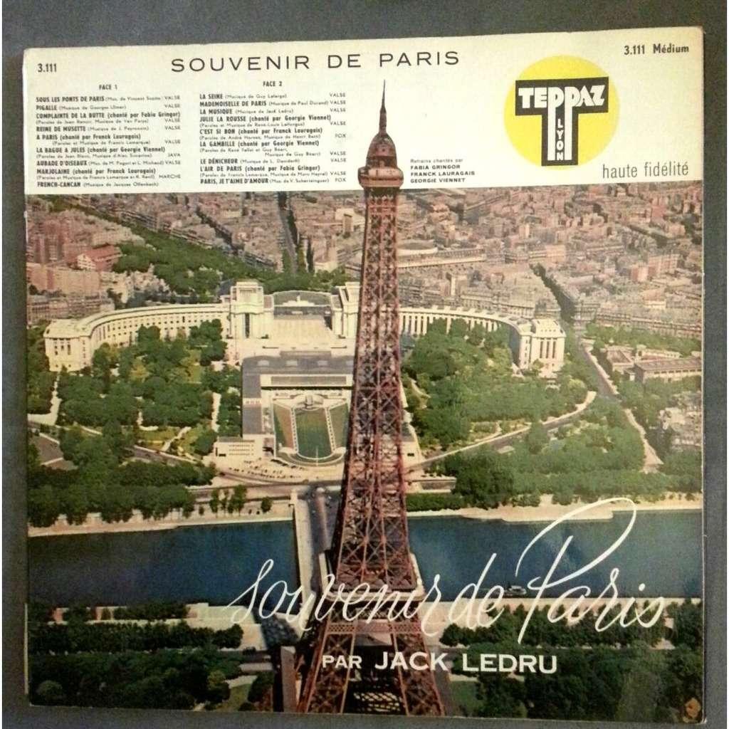 Jack Ledru Souvenir De Paris