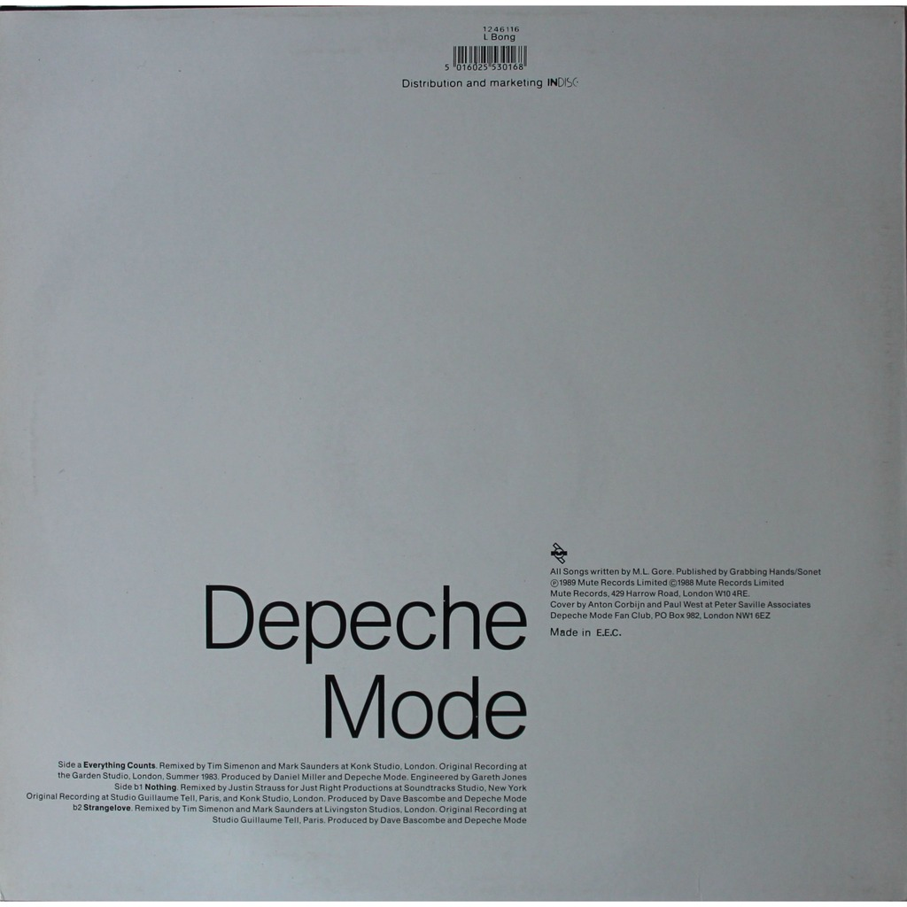 Everything counts (remix) by Depeche Mode, 12inch with pbr59