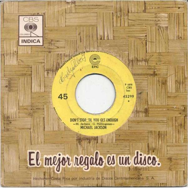 Michael Jackson I Can't Help It (Costa Rica 1979 2-trk 7single Company slv)