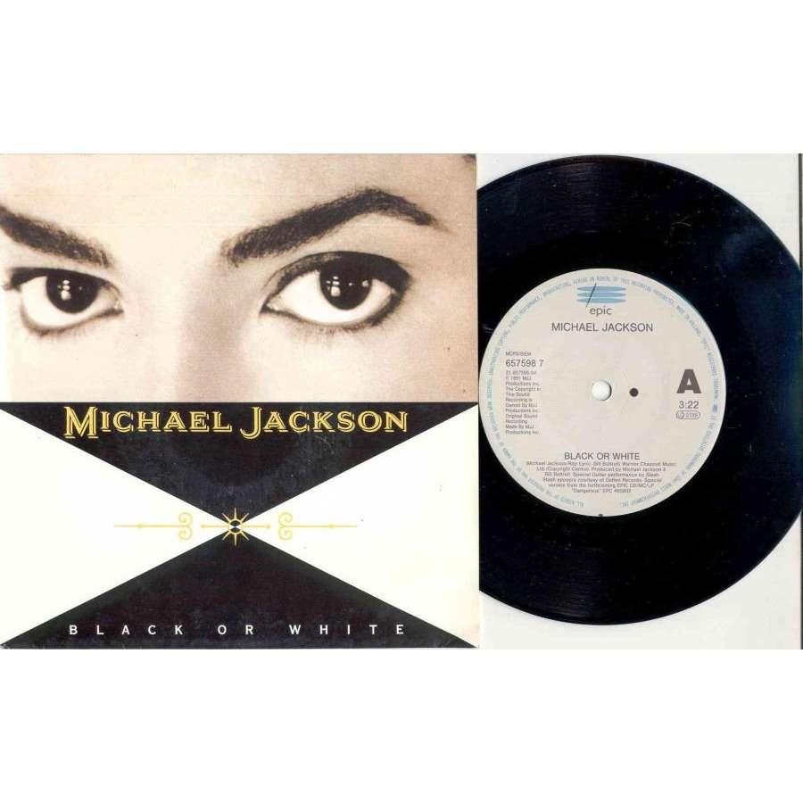 Michael Jackson Black Or White (UK 1991 2-trk 7single full ps)
