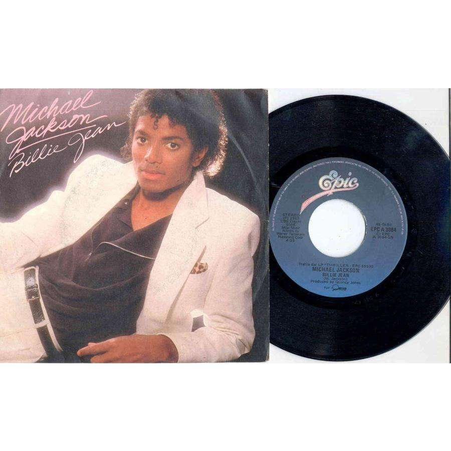 Michael Jackson Billie Jean (Italian 1982 2-trk 7single full ps)