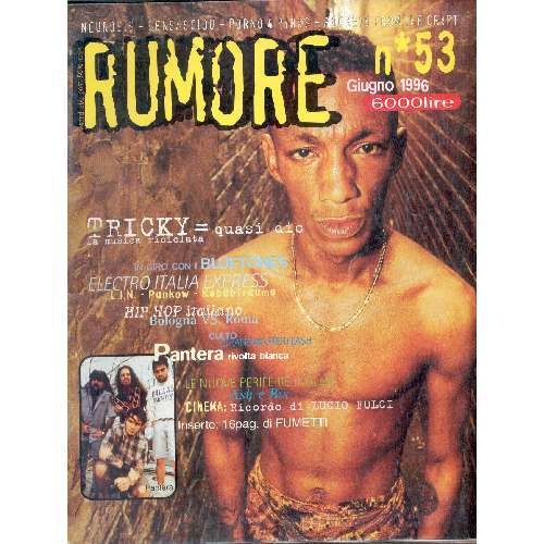 Tricky RUMORE(N.53 JUNE 1996)(ITALIAN 1996 TRICKY FRONT COVER MAGAZINE)
