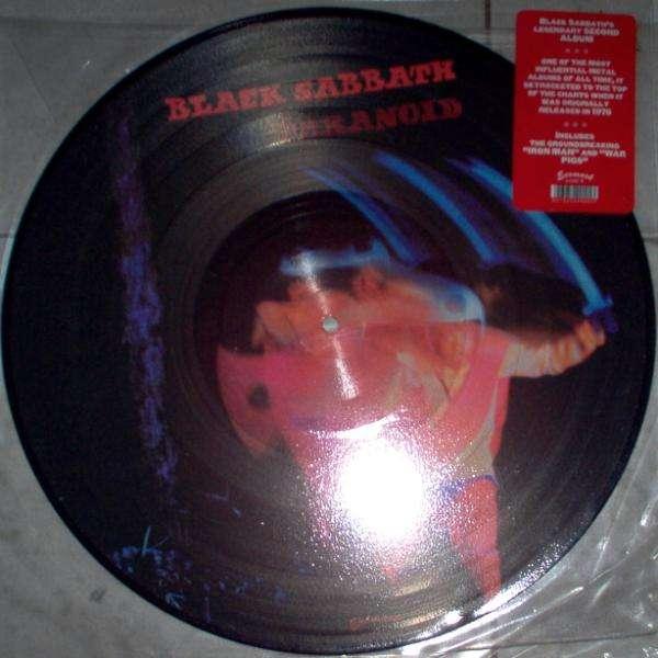 Black Sabbath Paranoid (Italian 1996 Ltd 8-trk LP Picture Disc stickered slv)