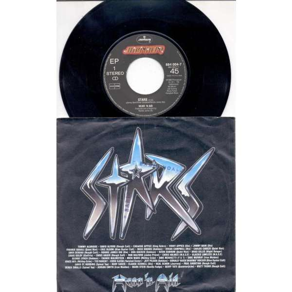 Iron Maiden / Adrian Smith & Dave Murray Stars (Holland 1986 2-trk 7single full ps)
