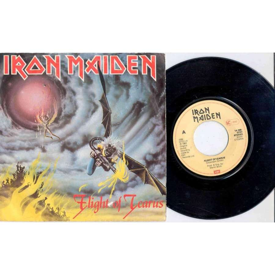 Iron Maiden Flight of Icarus (Holland 1983 2-trk 7single full ps)