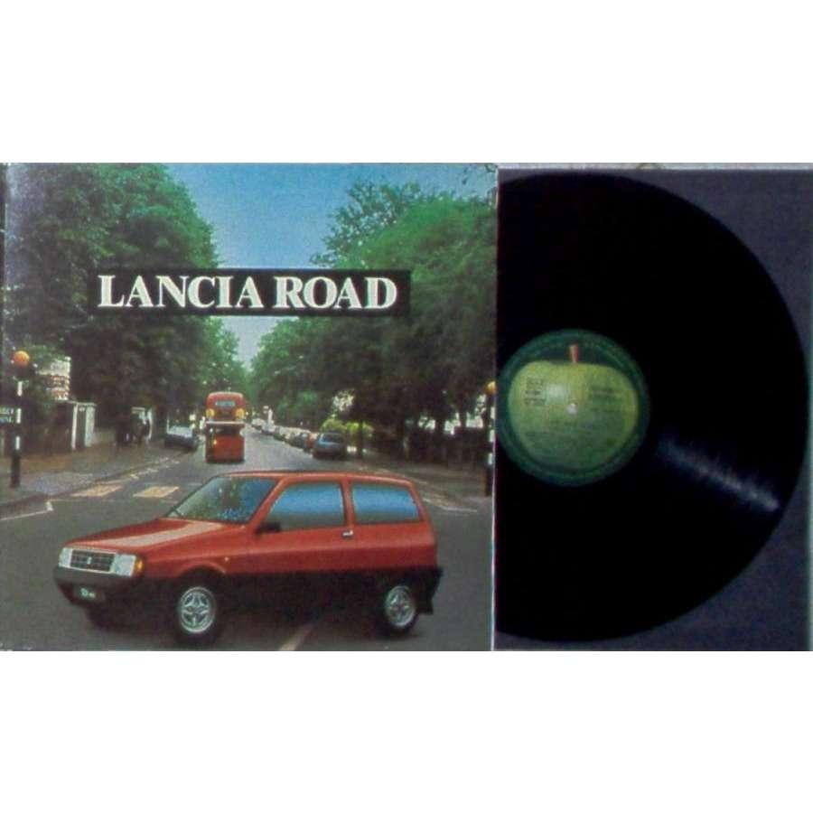 Beatles Abbey Road (Italian 1986 Ltd 'Lancia Road' promo 16-trk LP unique die-cut gf ps & ineer & insert)