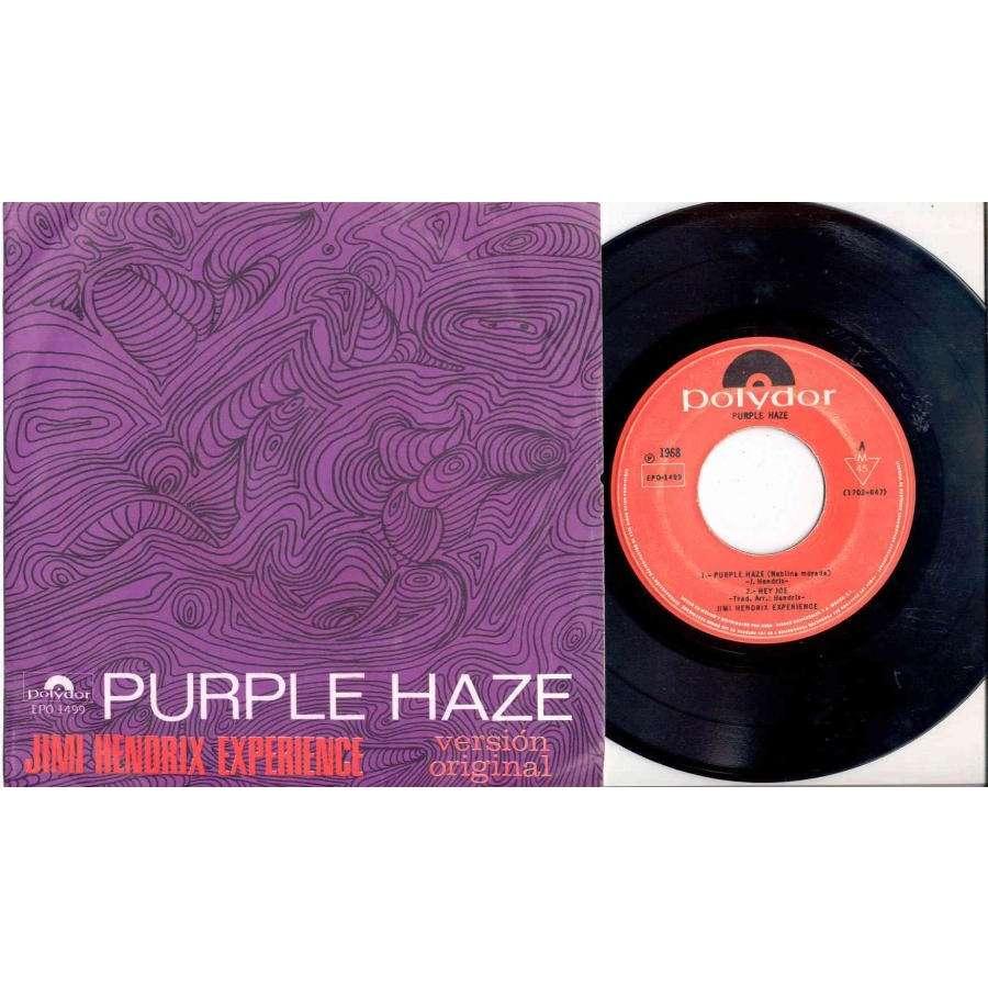 Jimi Hendrix Neblina Morada (Mexican 1968 4-trk 7EP unique ps)