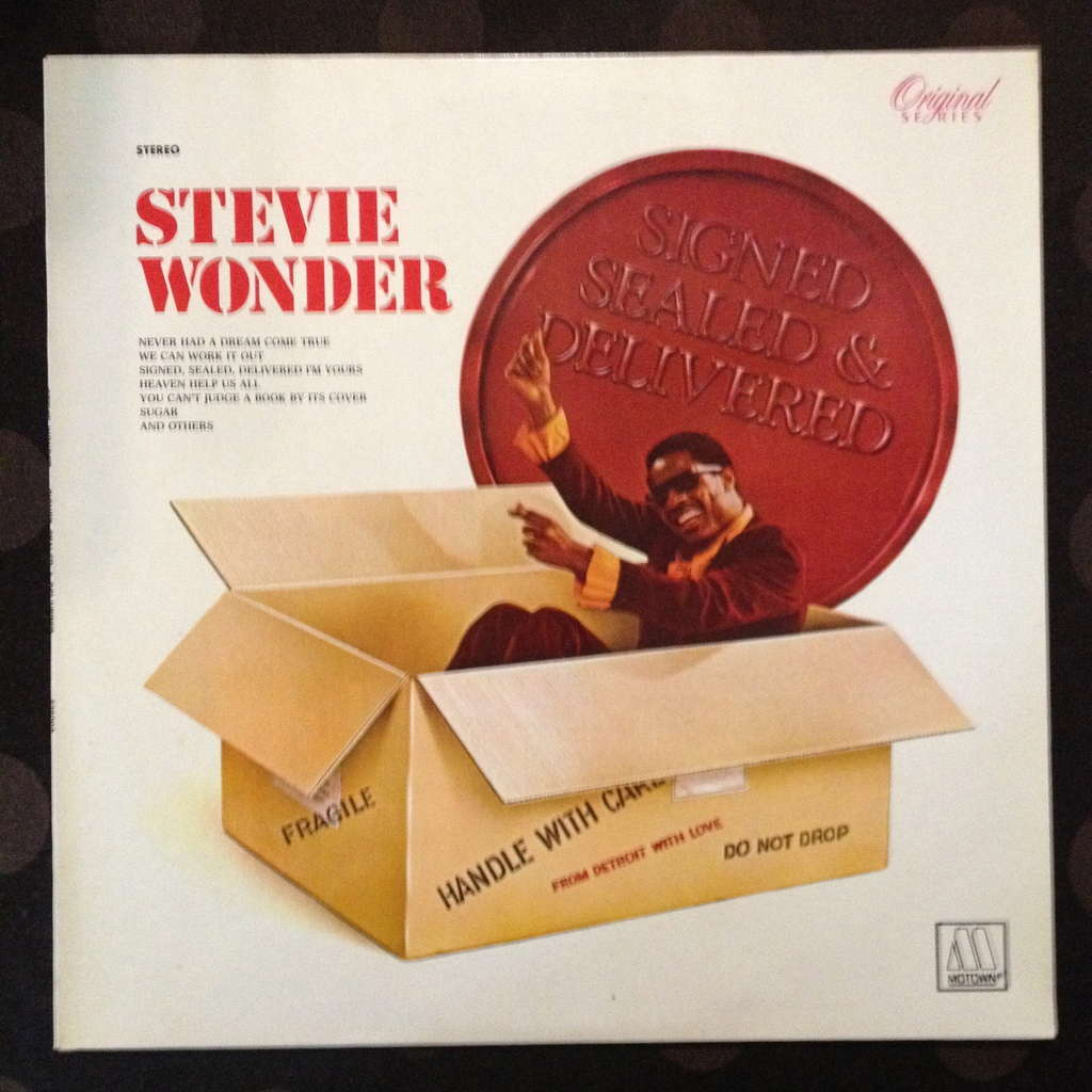 Signed Sealed Amp Delivered By Stevie Wonder Lp With