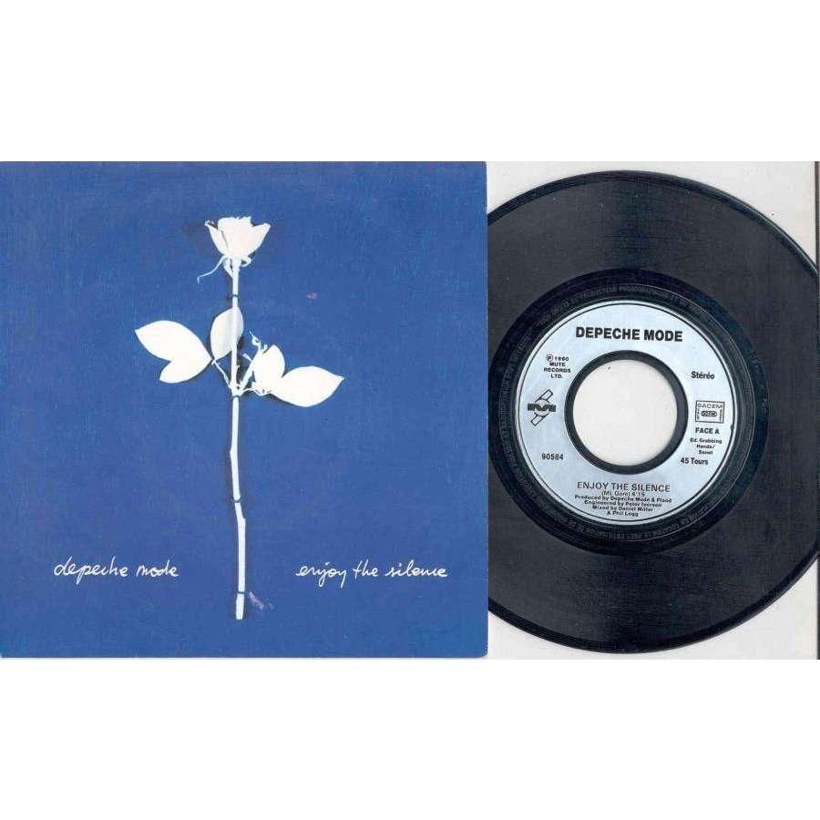 Depeche Mode Enjoy The Silence (French 1990 2-trk 7 single full ps)