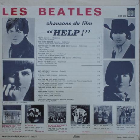the beatles Chansons du film Help ! (Dark Blue Odeon)