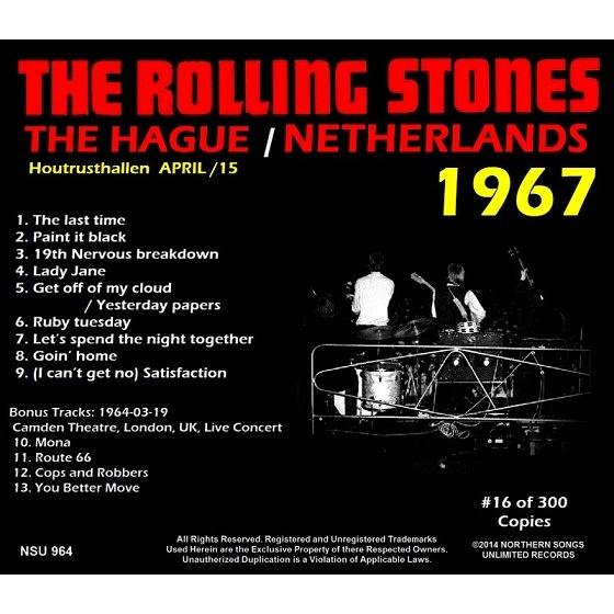 the rolling stones THE HAGE / NETHERLANDS 1967 LTD CD