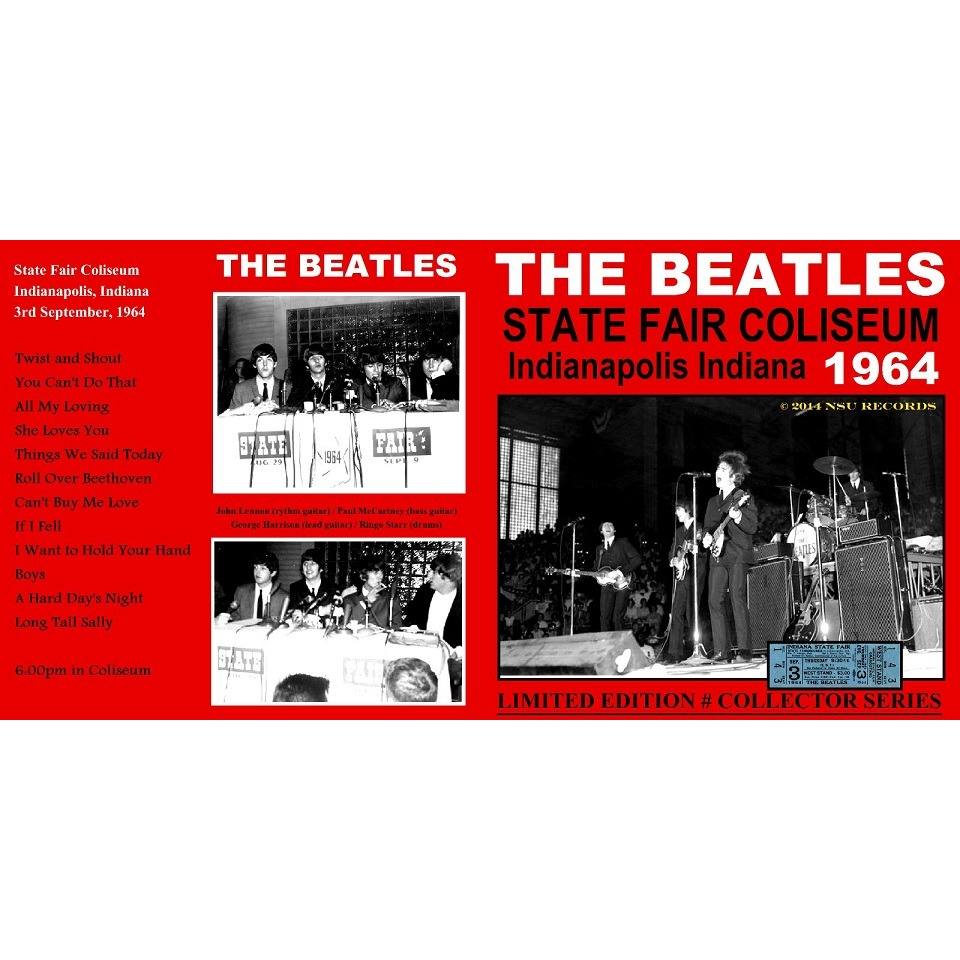THE BEATLES INDIANAPOLIS INDIANA 1964 SEPT 3RD LTD CD