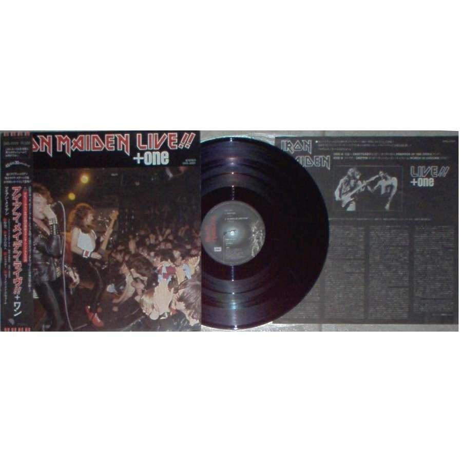 Iron Maiden Live!!+One (Japan 1980 Ltd 4-trk 12EP unique ps & obi & insert)
