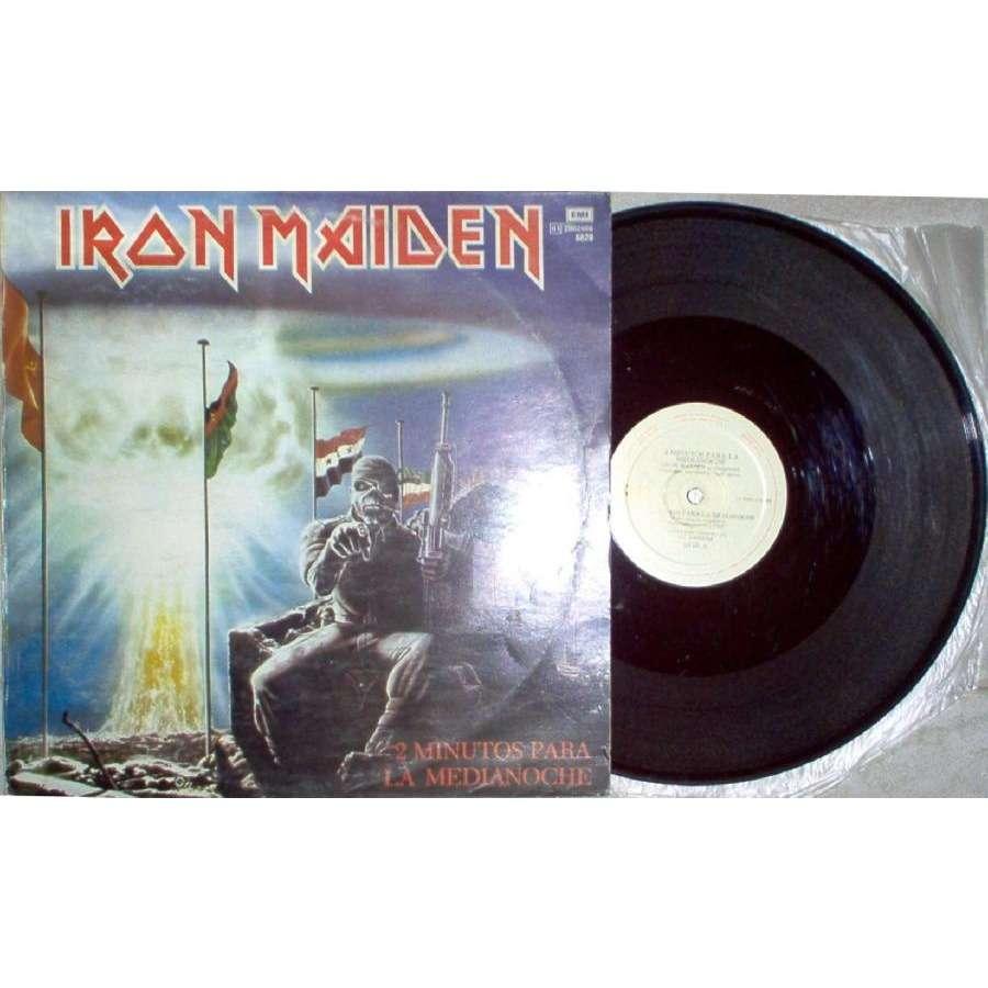 IRON MAIDEN 2 Minutos Para La Medianoche (Argentina 1984 Ltd 3-trk 12EP full unique spanish ps)