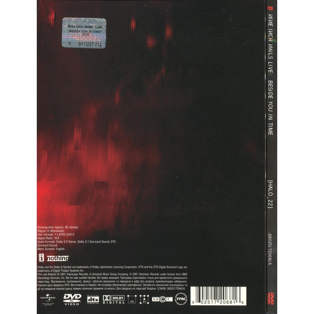 Live: beside you in time by Nine Inch Nails, DVD with romantus - Ref ...