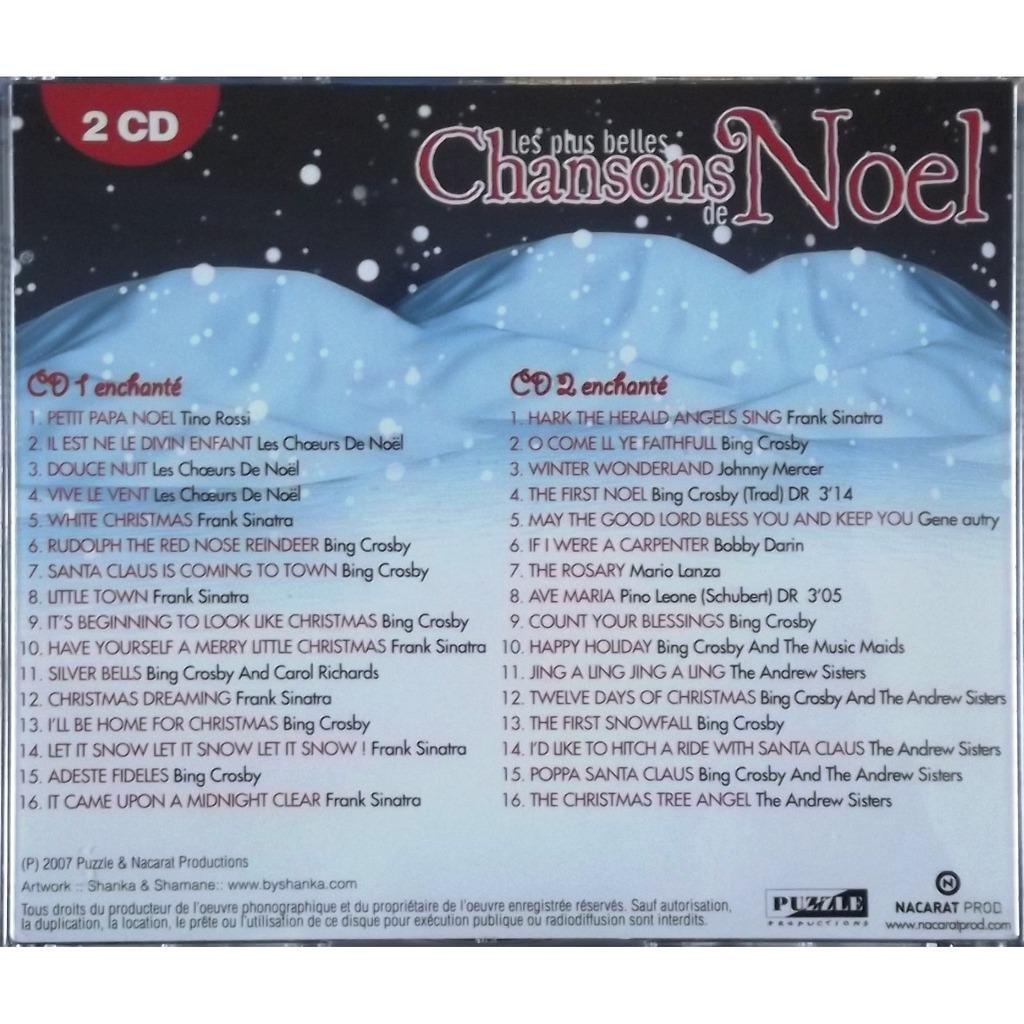 les plus belles chansons de noel Les plus belles chansons de noël (2cd   32 ttracks) de Sinatra  les plus belles chansons de noel