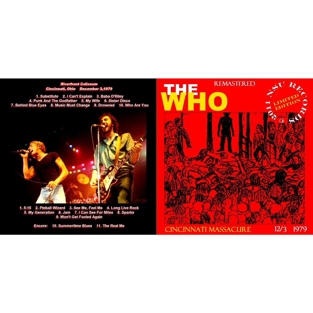 THE WHO CINCINNATI,OHIO DECEMBER 3,1979 LTD 2CD