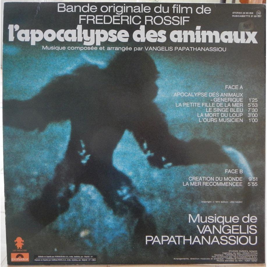 Vangelis Papathanassiou L'Apocalypse Des Animaux