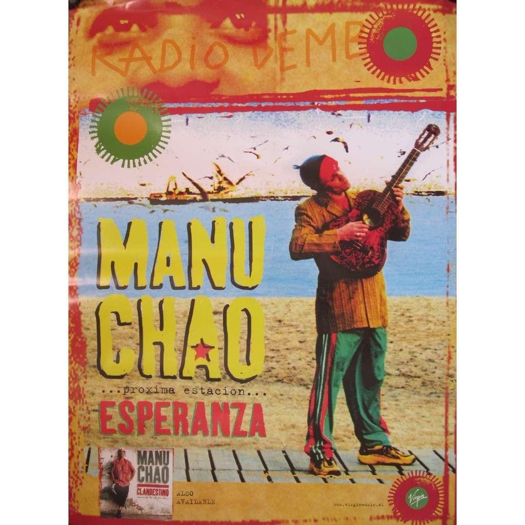 Proxima estacion esperanza de Manu Chao, Poster / Affiche ...