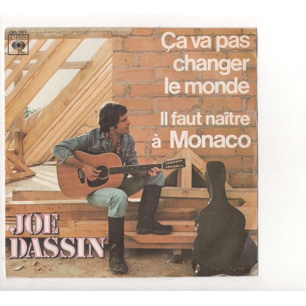 Ca Va Pas Changer Le Monde Il Faut Naitre A Monaco De Joe Dassin Ep Chez Vallois Ref 117252458