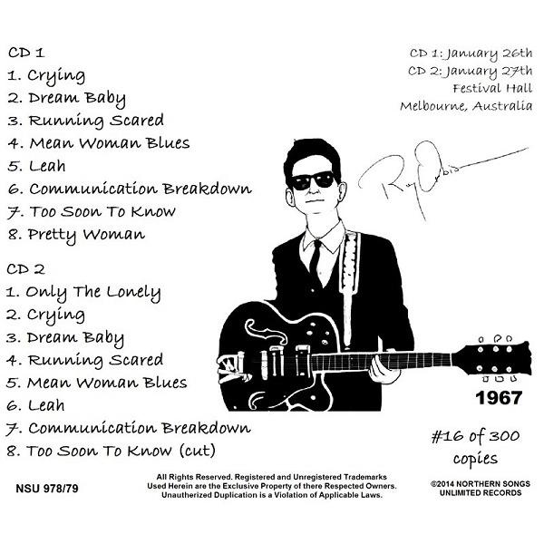 Melbourne Australia 1967 Jan 26 Amp 27 2cd By Roy Orbison Cd