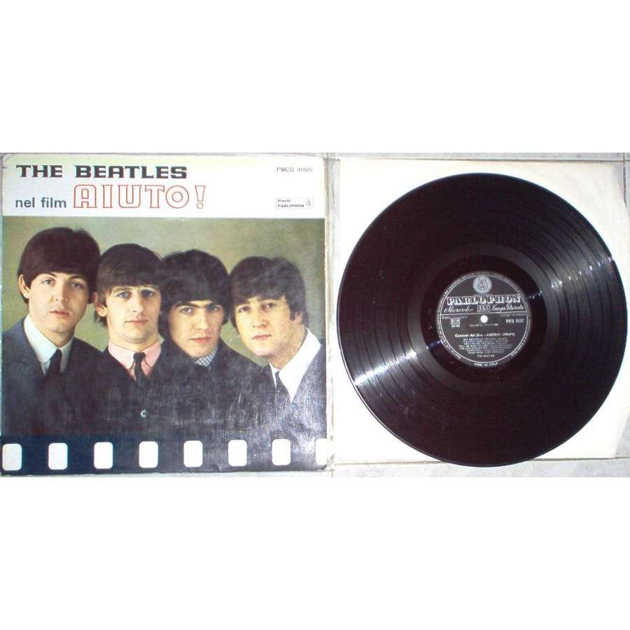 Beatles Aiuto! (Italian 1965 original 14-trk LP unique italian title gf ps)