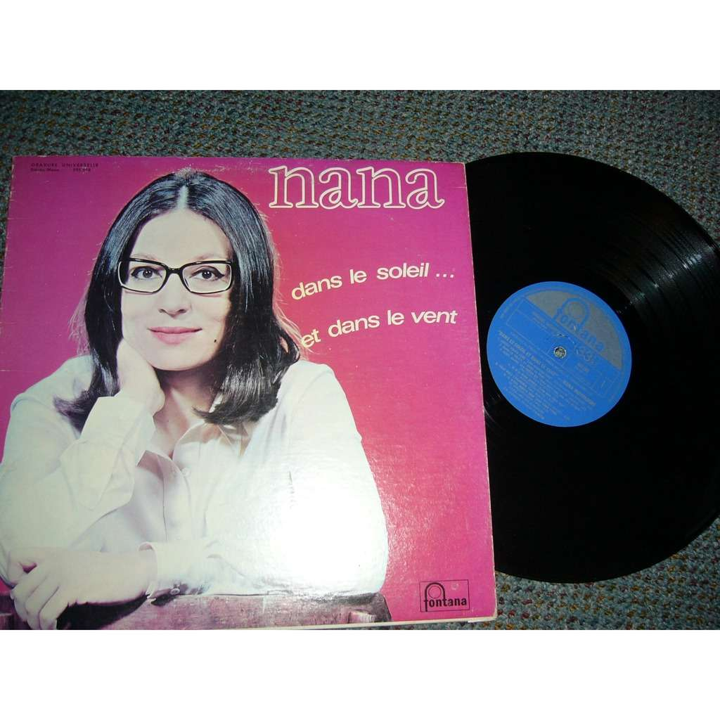 Nana Mouskouri dans le soleil et dans le vent (pressage canadien) blue label cover of the blade ever more rare pin
