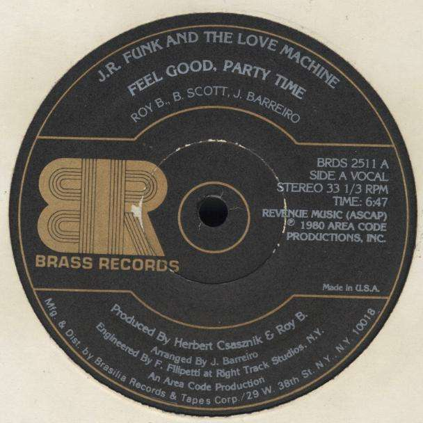 J.R. FUNK & LOVE MACHINE feel good , party time / instru.