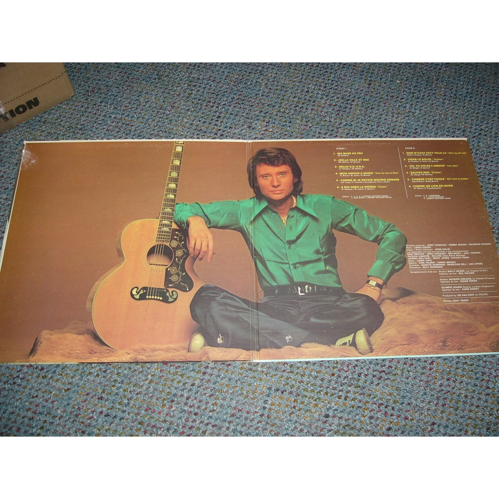 johnny hallyday johnny Hallyday country folk rock rouge label