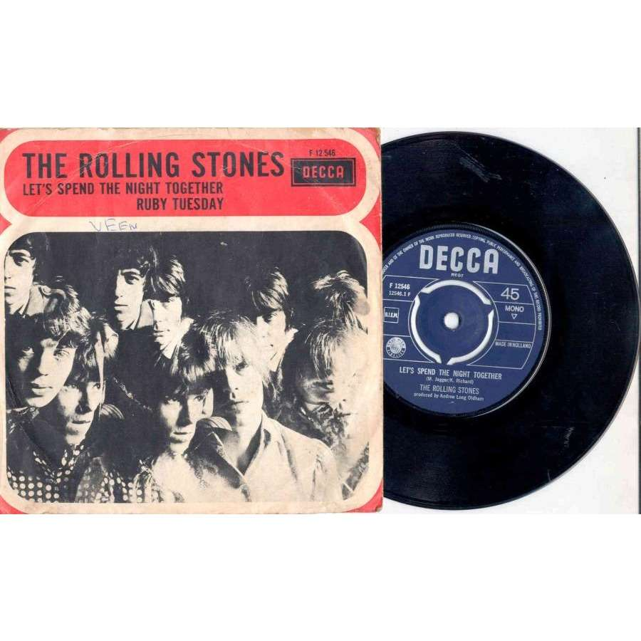 Rolling Stones Let's Spend The Night Together (Holland 1967 2-trk 7single full unique ps)