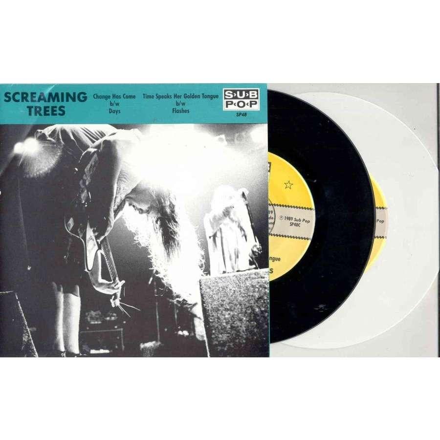 Nirvana / Sub Pop / Screaming Trees Change Has Come (USA 1989 Ltd 'Sub Pop' 2x 7singles BLACK & WHITE vinyl full poster ps)