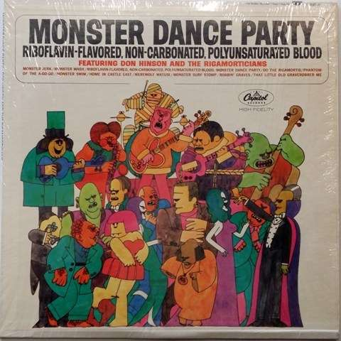 monster dance party don hinsonand the rigamorticians lp
