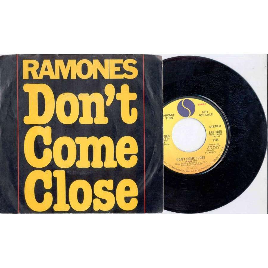 Ramones Don't Come Close (USA 1978 2-trk promo 7single absolutely unique ps)