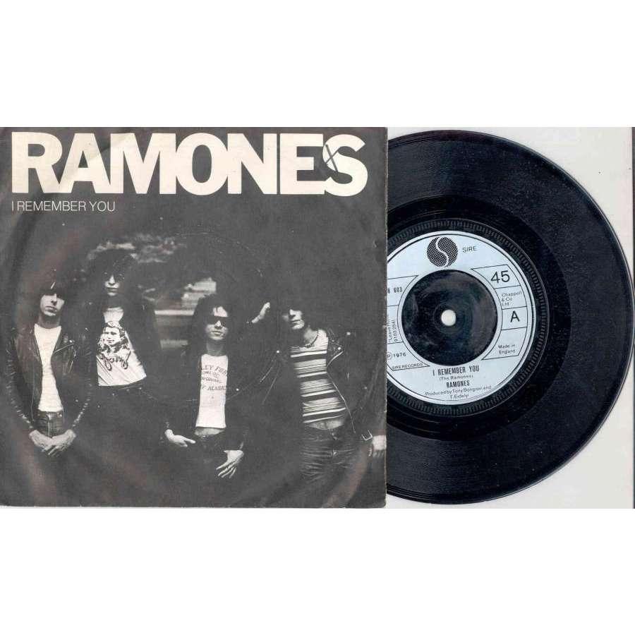 Ramones I Remember You (UK 1976 Ltd 2-trk 7single silver lbl full ps)