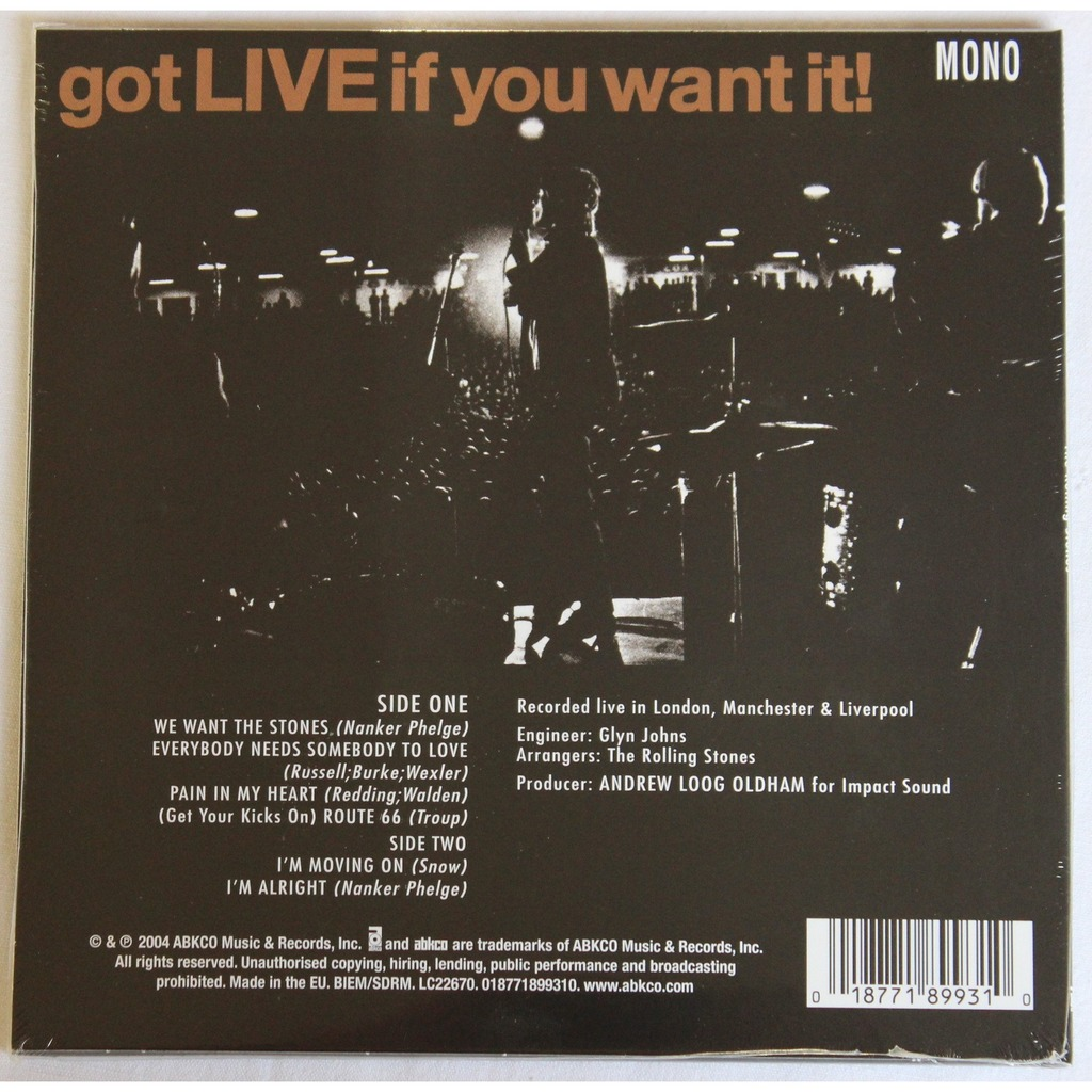 Got Live If You Want It Rsd By The Rolling Stones Ep