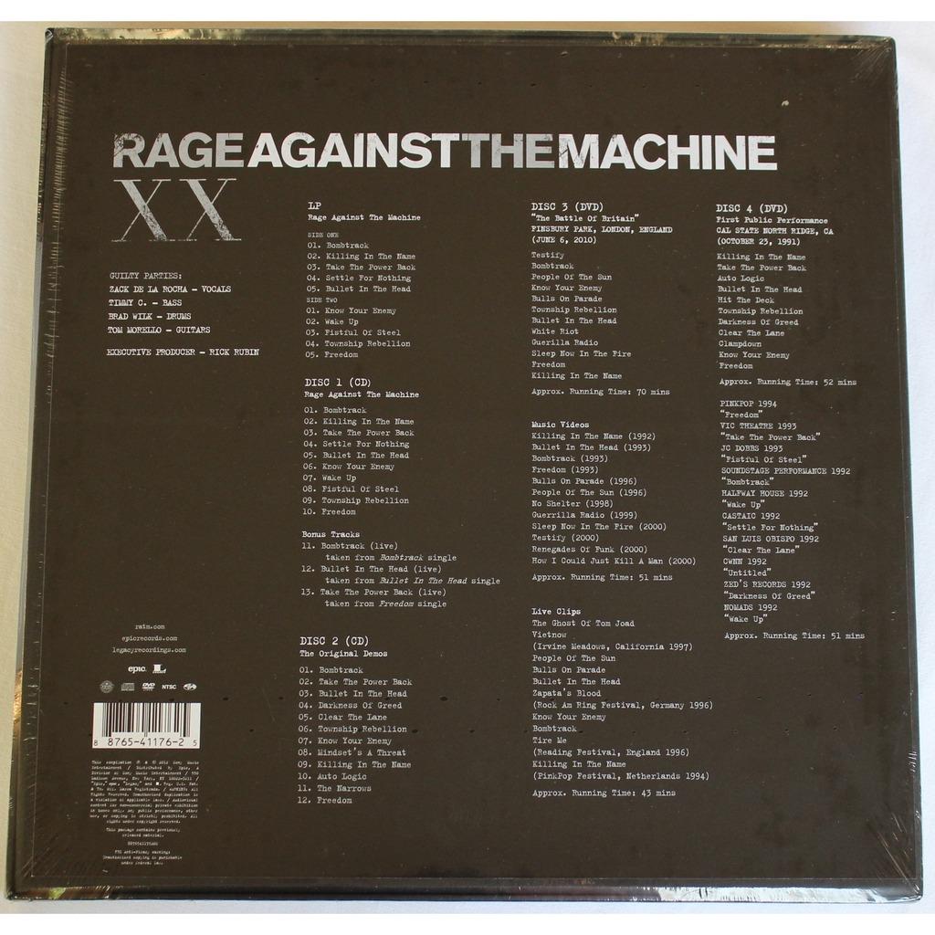 rage against the machine xx