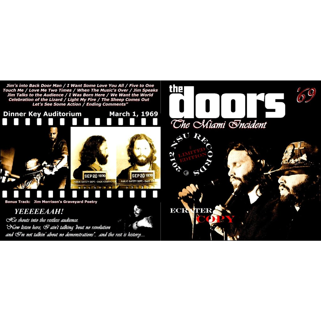 THE DOORS MIAMI INCIDENT 1969 MARCH 1ST LTD CD