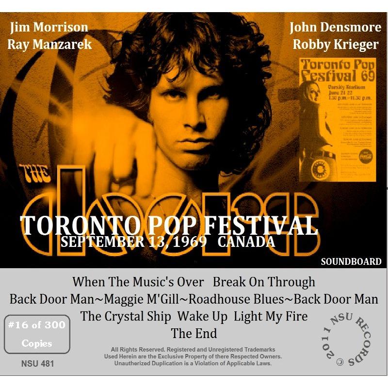 ... jim morrison u0026 the doors TORONTO POP FESTIVAL 1969 09.13 LTD CD ...  sc 1 st  CD and LP & Toronto pop festival 1969 09.13 ltd cd by Jim Morrison u0026 The Doors ...