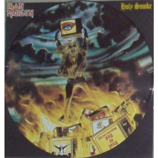 iron maiden Holy Smoke (UK 1990 Ltd 3-trk 12 Picture Disc pvc slv & insert)