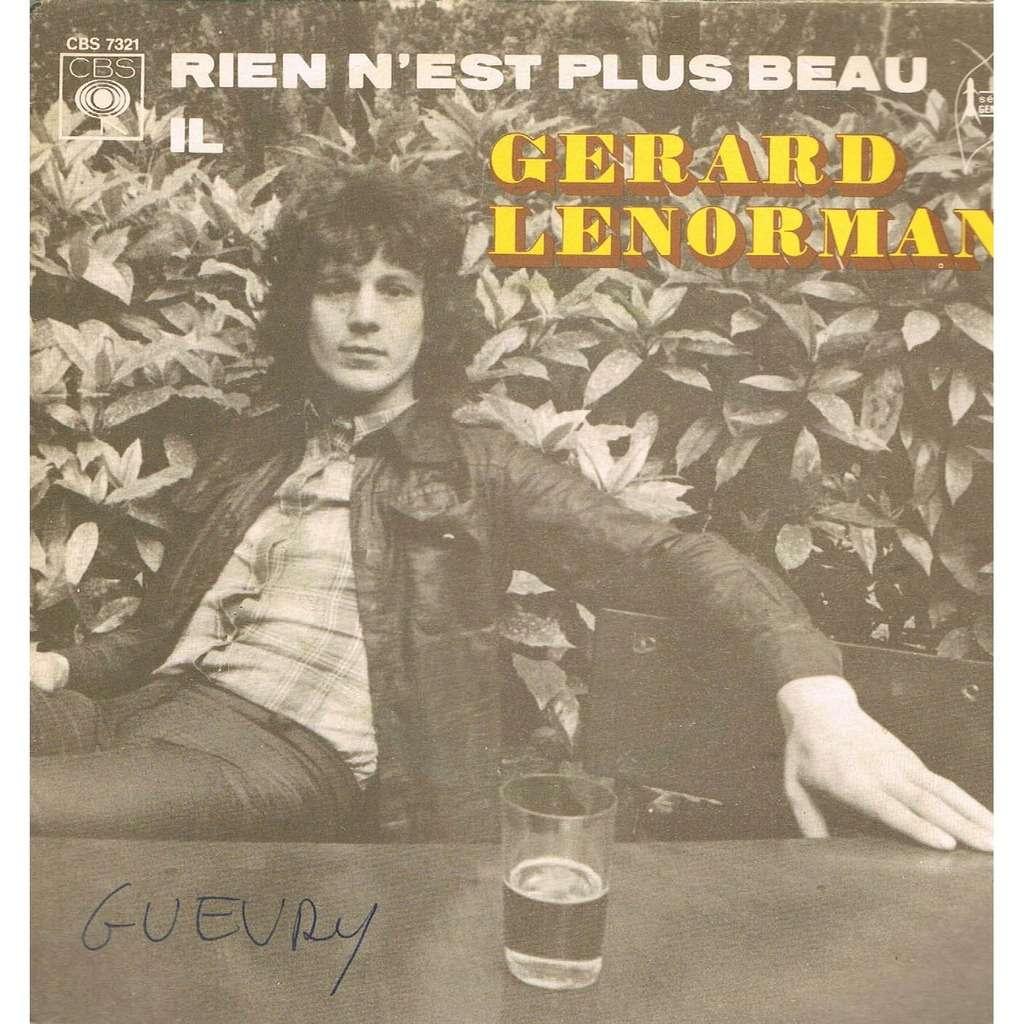 Il / Rien N'est Plus Beau De Gérard Lenorman, SP Chez