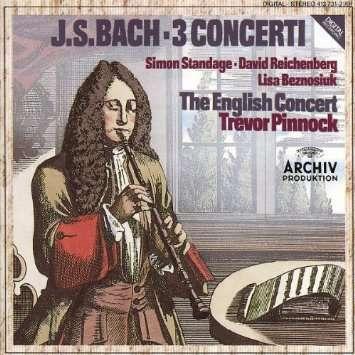 johann sebastian bach 3 CONCERTI / TREVOR PINNOCK