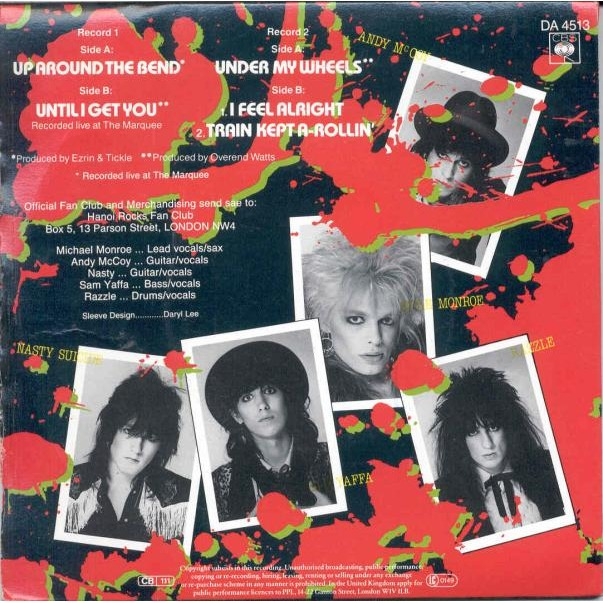 Hanoi Rocks Up Around The bend (UK 1984 Ltd 5-trk 7single double pack gf ps)