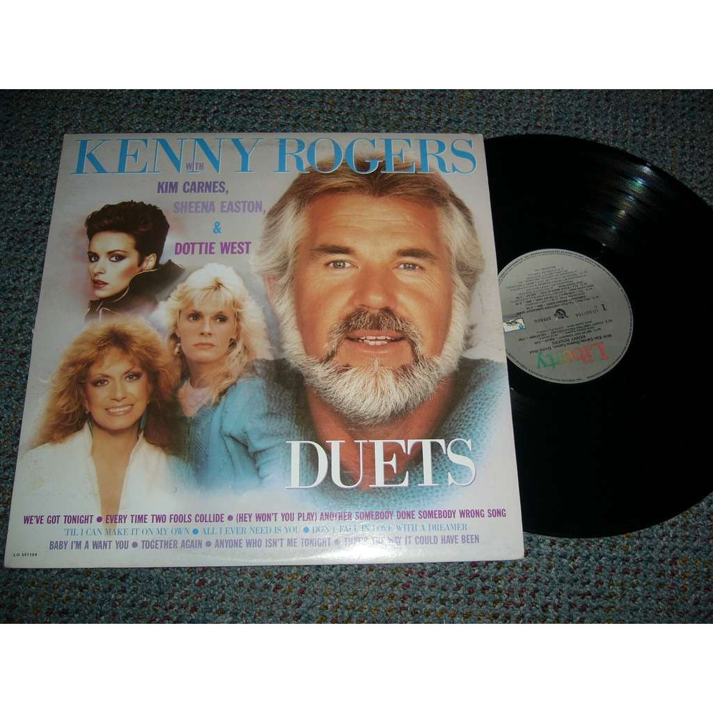 Kenny Rogers With Kim Carnes Sheena Easton Dottie West Duets Pressage Canadien By Kenny Rogers Lp With Gingras Ref 117298998