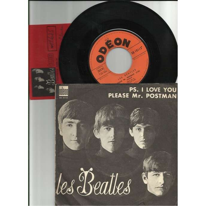 the beatles ps. i love you + carte fan-club