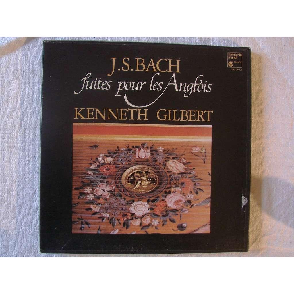 Anglois kenneth gilbert - clavecin touchet -taskin de 1778 bach : suites pour les  anglois
